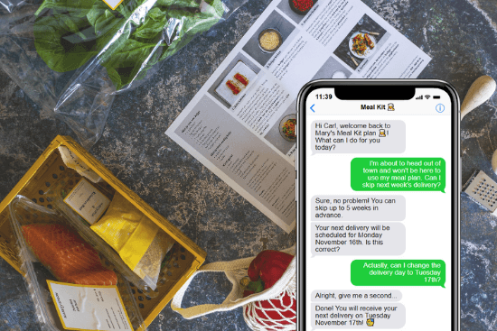 Conversational AI for meal plans